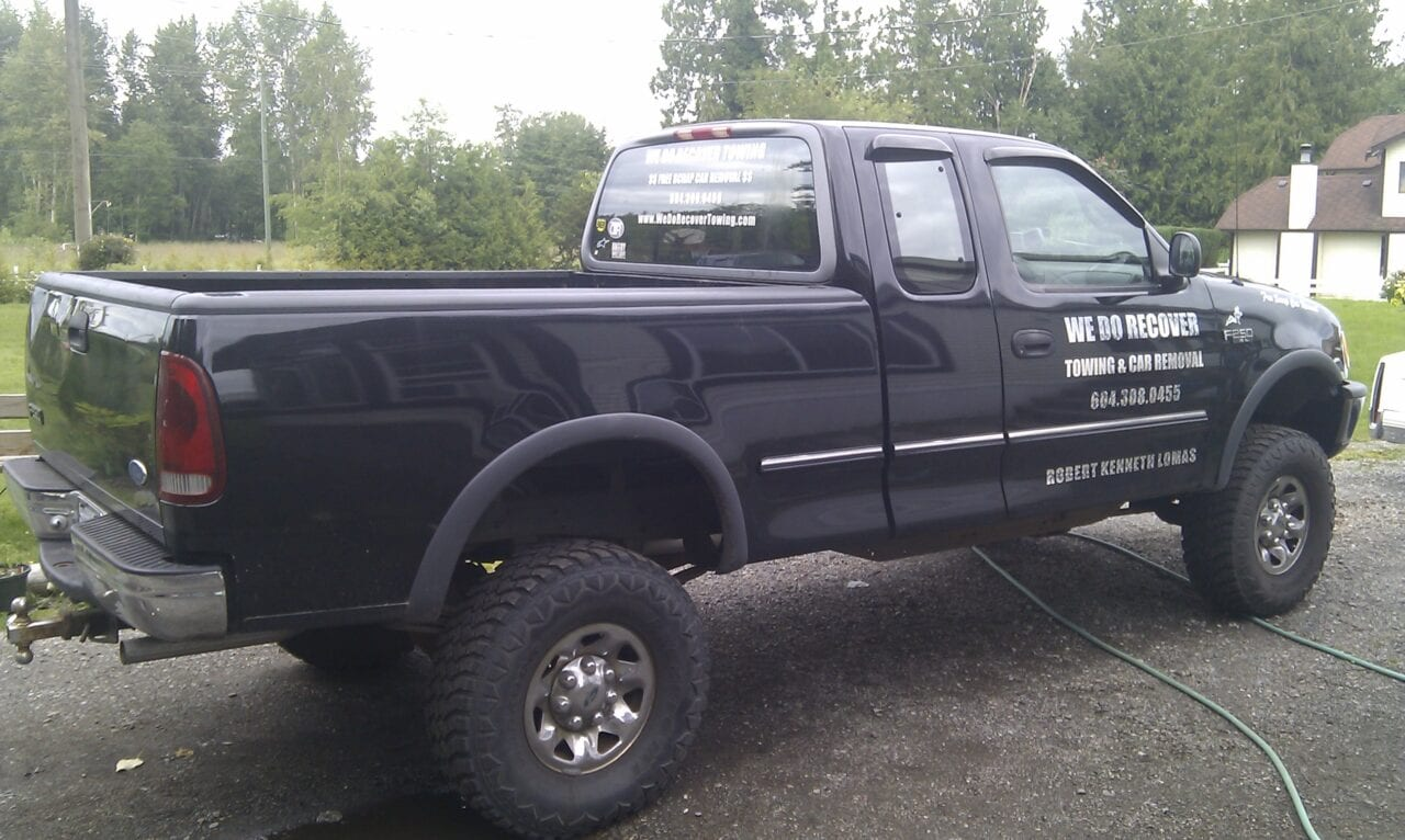 One of our We Do Recover pickup trucks