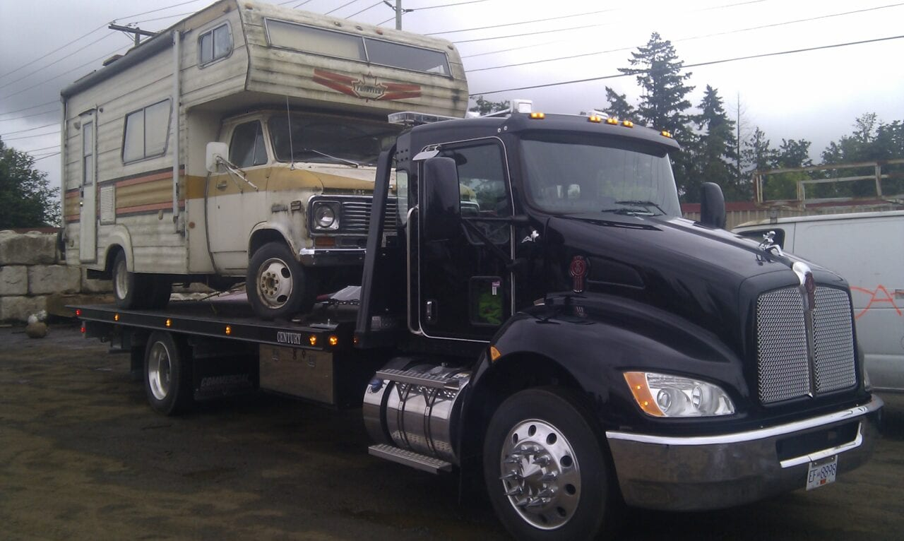 We can even flatbed tow RVs
