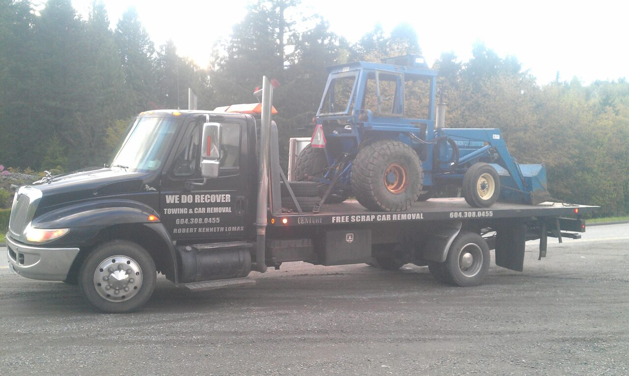 Towing an older tractor