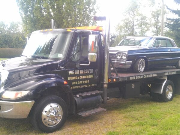 vintage car towing aldergrove