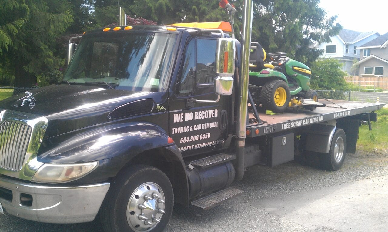 Big or small, we can tow all types of machinery
