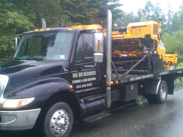 We tow machinery