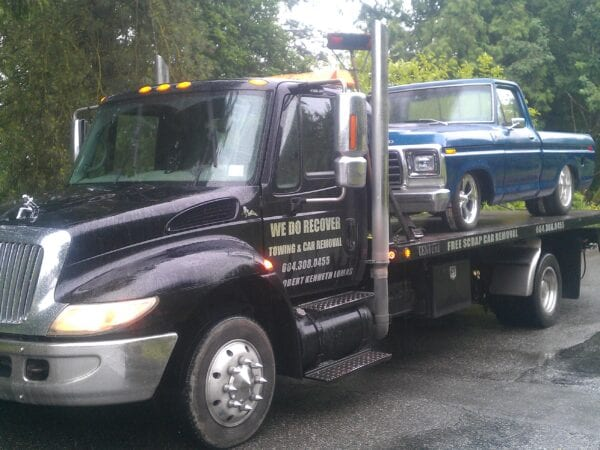 Flatbed towing of a classic pickup