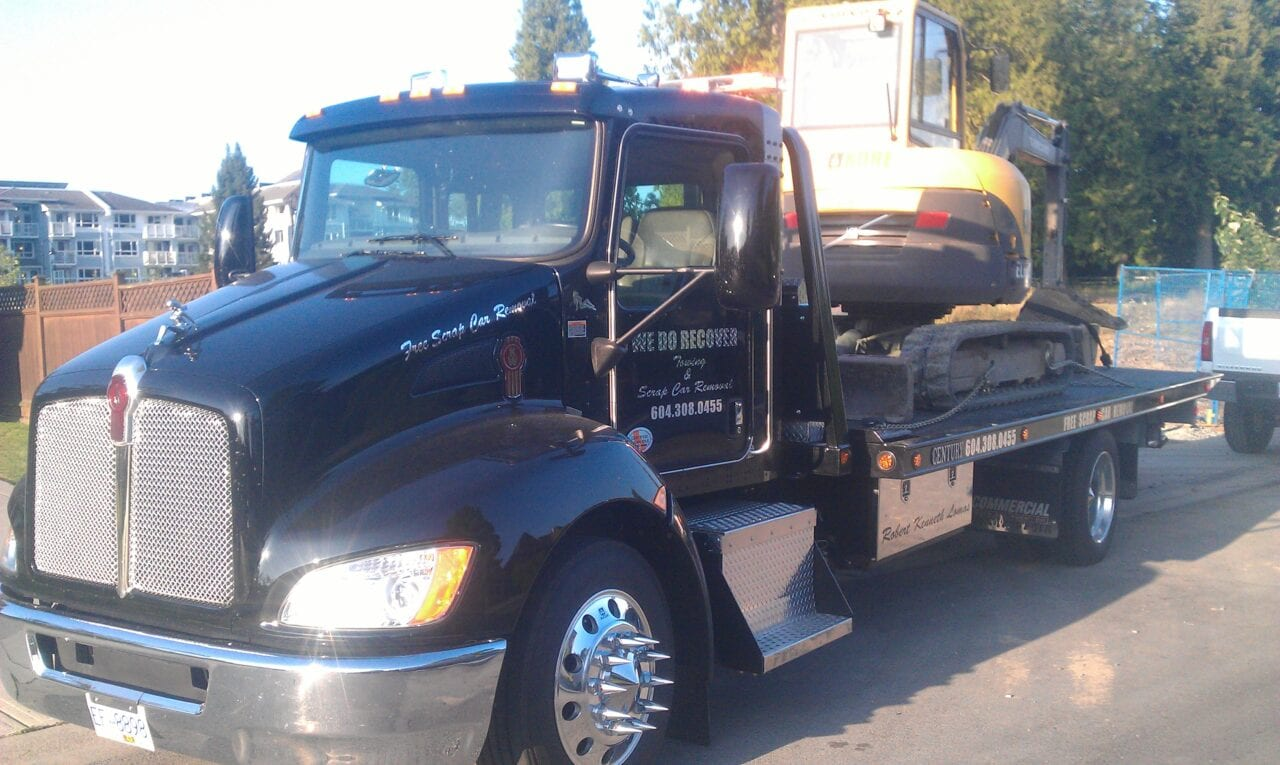We also tow construction machinery