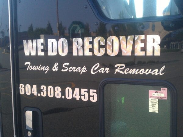 We Do Recover Towing and Scrap Removal door